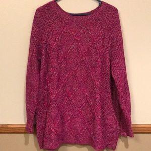 Studio Works 2X raspberry variegated sweater